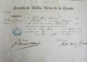 """Una matrícula en la asignatura de """"Dibujo y Adorno"""""""