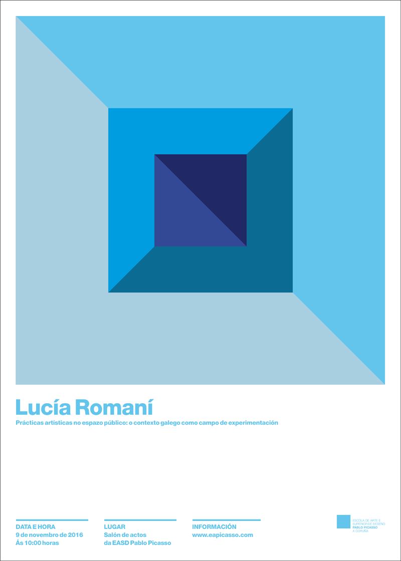 Conferencia de Lucía Romaní o 9 de novembro ás 10 horas no salón de actos da EASD Pablo Picasso