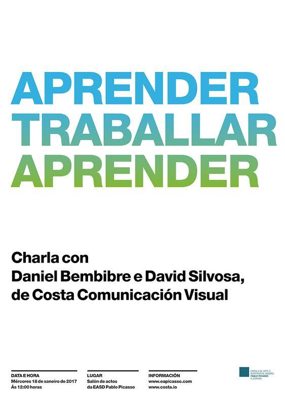 Charla de miembros de Costa Comunicación Visual, mércores 18 de xaneiro ás 12 horas na EASD Pablo Picasso