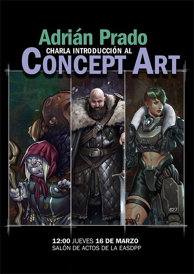 Xoves 16 de marzo ás 12 horas, charla sobre Concept Art impartida por Adrián Prado