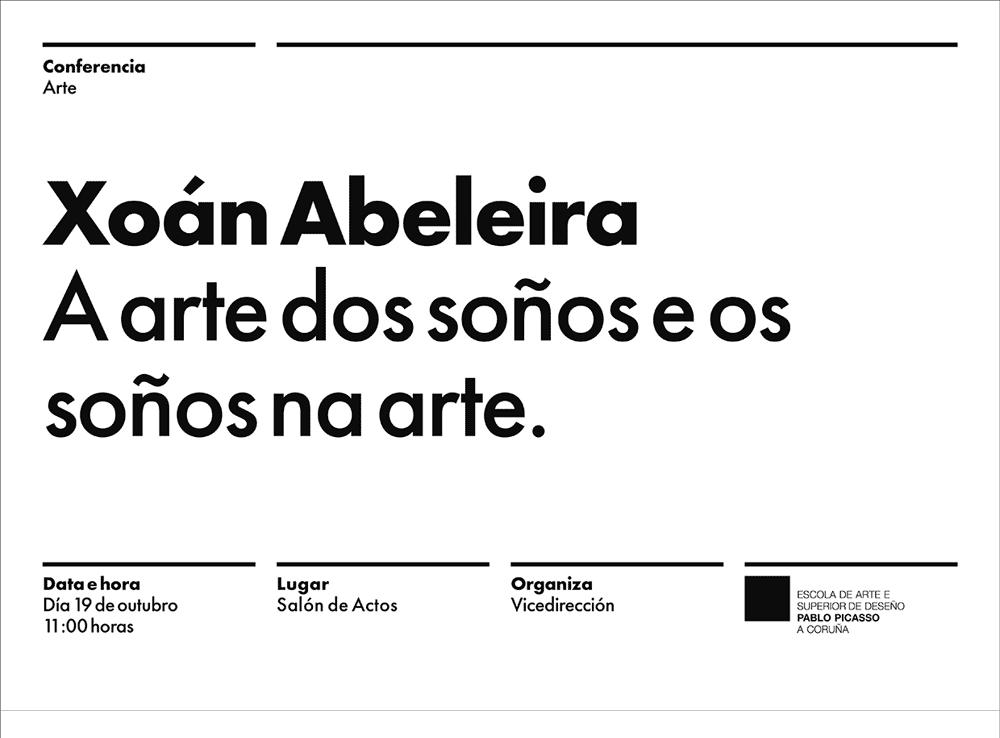 Conferencia de Xoán Abeleira o 19 de outubro