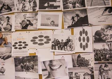 Imaxes nun corcho de diferentes proxectos