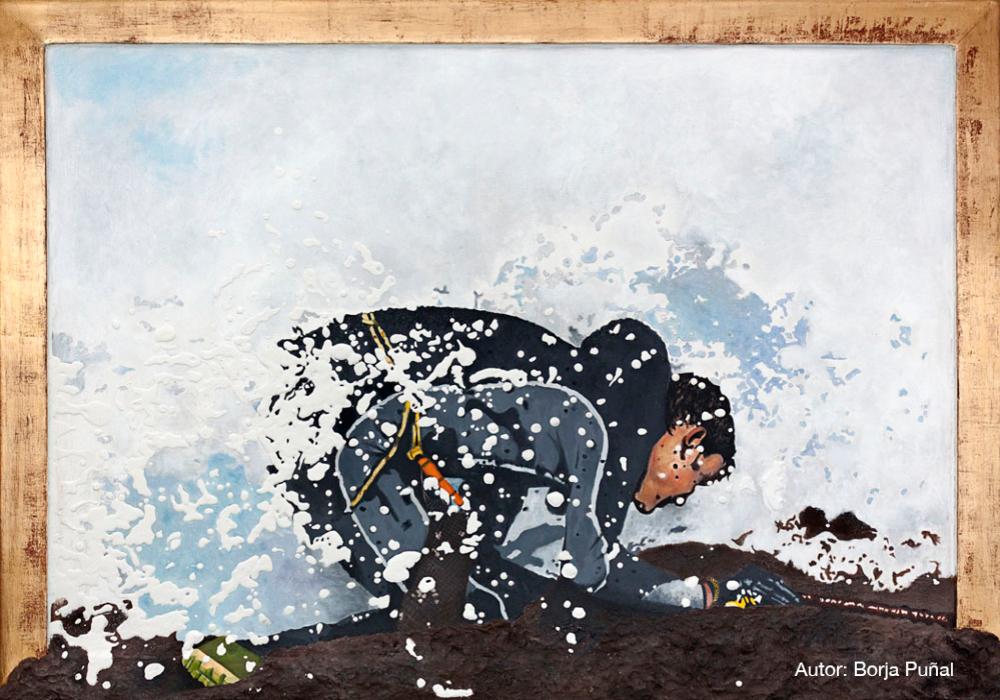 A golpe de mar. Autor: Borja Puñal.