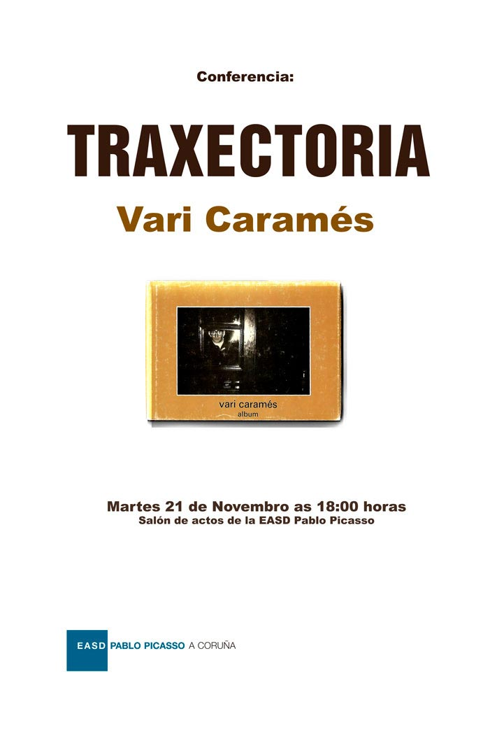 Cartel da conferencia do martes 21 de novembro de Vari Caramés