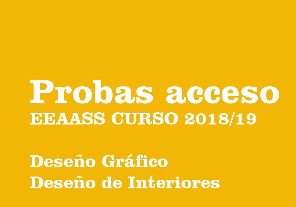 Información sobre o acceso ás ensinanzas superiores de deseño gráfico e de interiores
