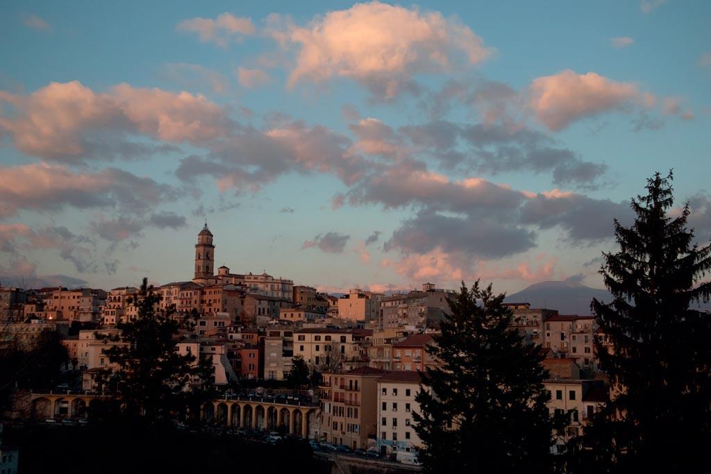 vista da parte alta da cidade de Frosinone