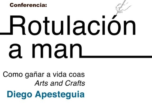 cartel rotulacion a man
