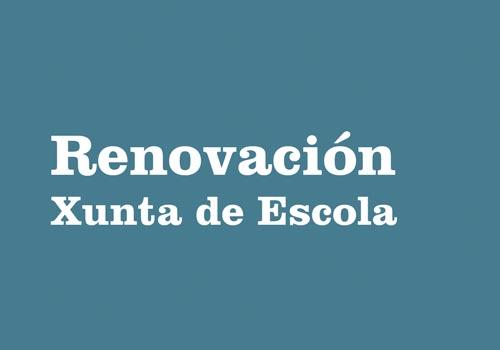 Renovación Xunta de Escola
