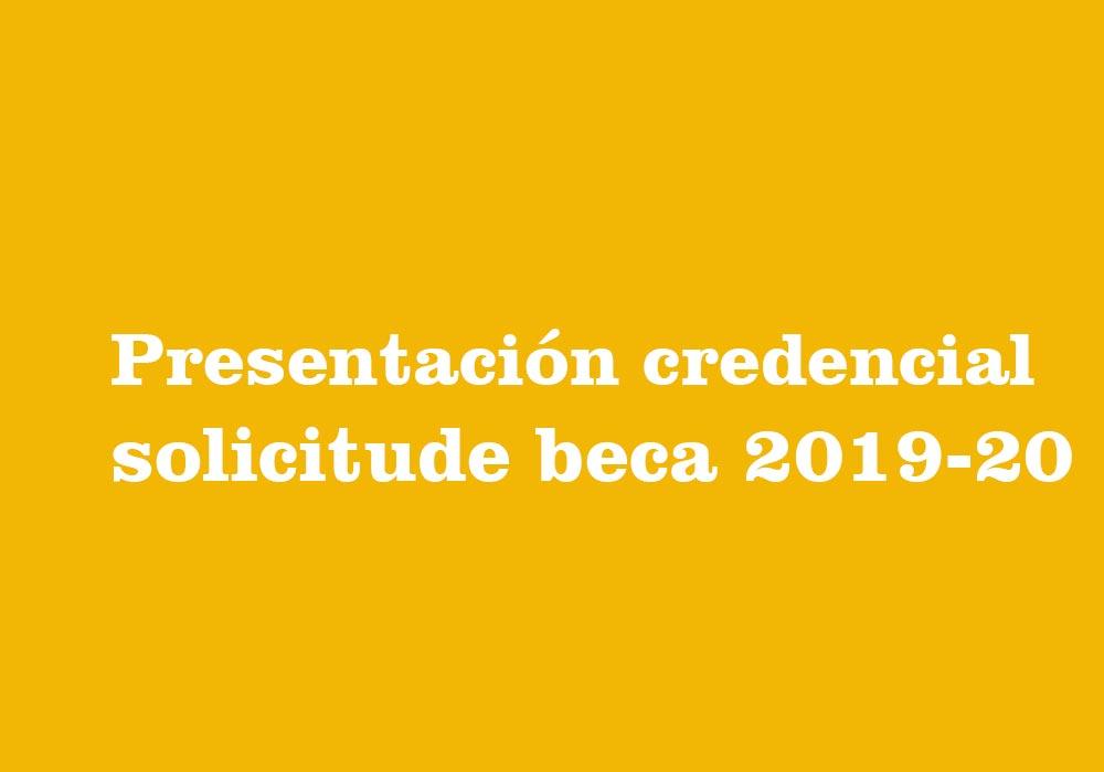 Presentación credencial solicitude beca 2019-20