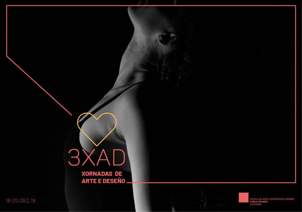 Cartel das III Xornadas de Arte e Deseño organizadas pola EASD Pablo Picasso